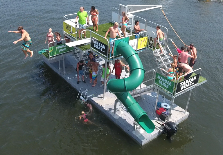 Tarzan Boat, Floating Waterpark