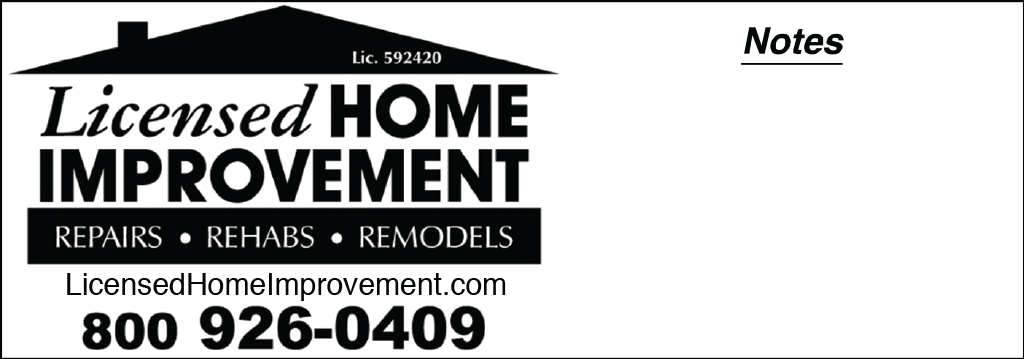 Licensed Contractor for home improvement